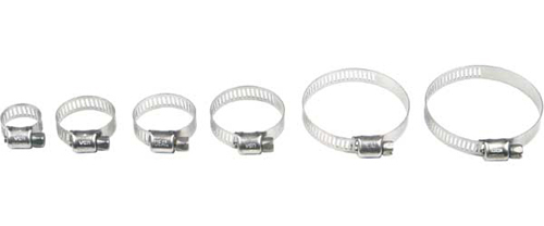 STAINLESS STEEL HOSE CLAMPS 6-16MM 10/PK