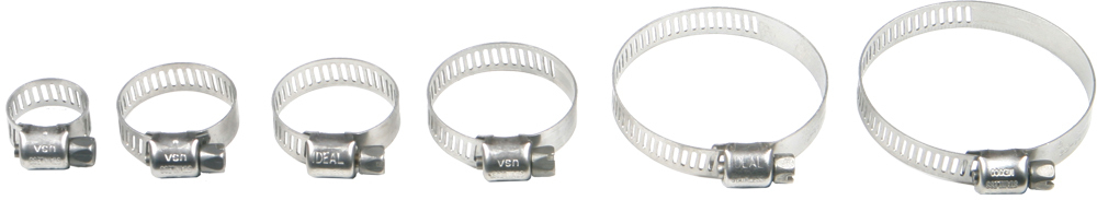STAINLESS STEEL HOSE CLAMPS 58-83MM 10/PK