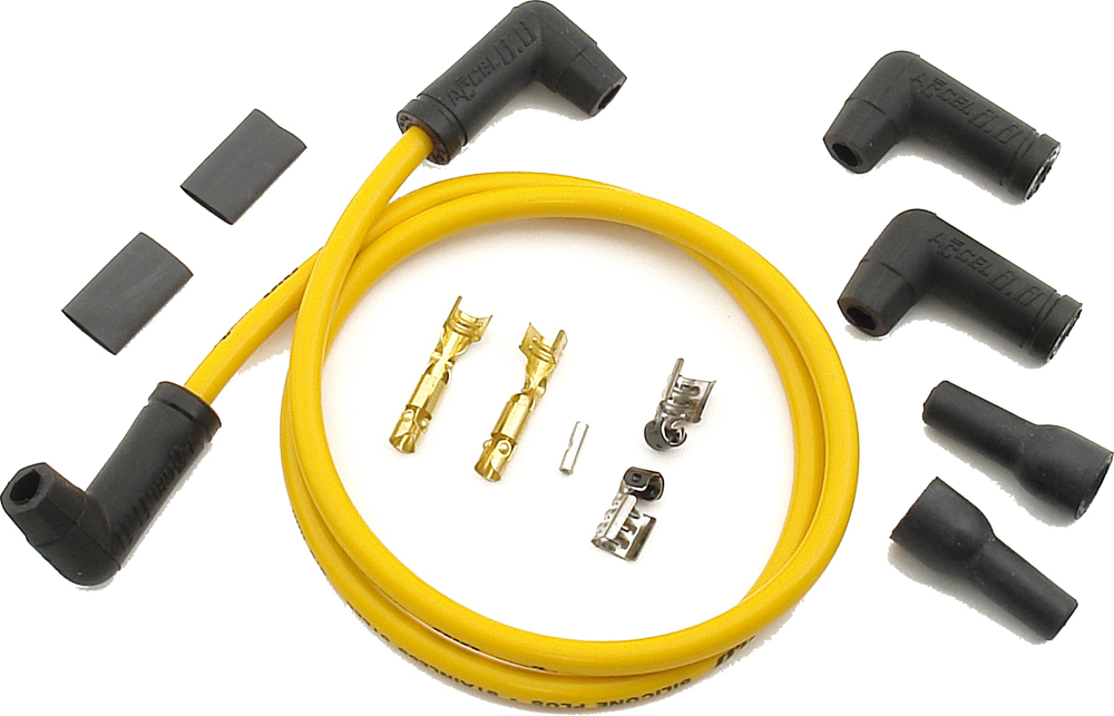 2 PLUG WIRE SET YELLOW 8.8MM