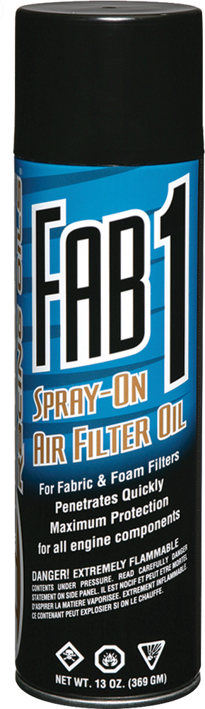 FAB 1 SPRAY-ON AIR FILTER OIL 13OZ