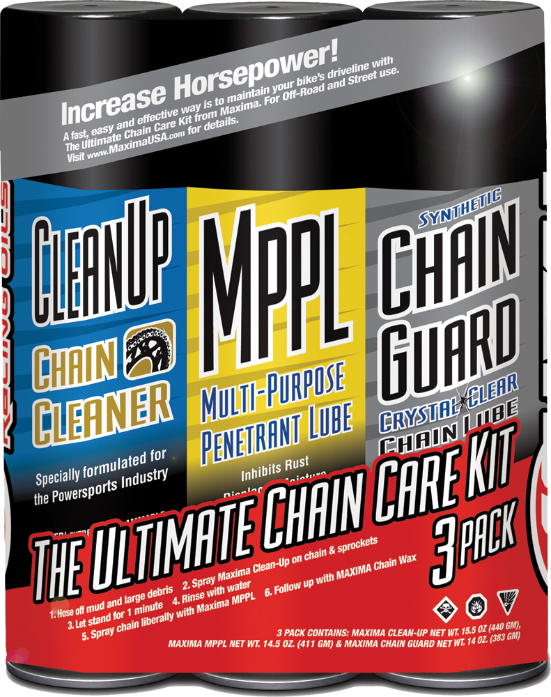 ULTIMATE CHAIN GUARD CARE KIT 3/PK