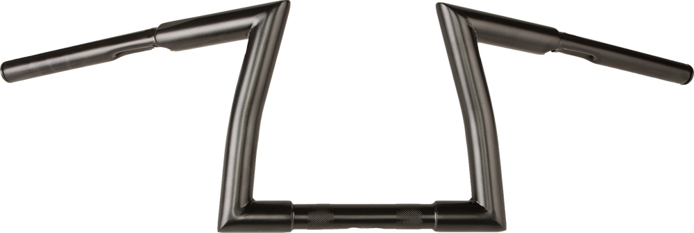 H-BAR Z-BAR 1 1/4  KNURL 82-UP31.5W 9 RISE SATIN BLK