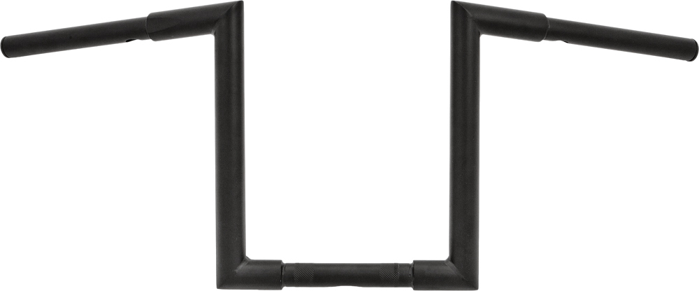 H-BAR Z-BAR 1 1/4  KNURL 82-UP31.5W 12 RISE SATIN BLK