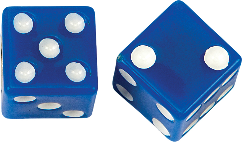 VALVE STEM CAPS BLUE DICE