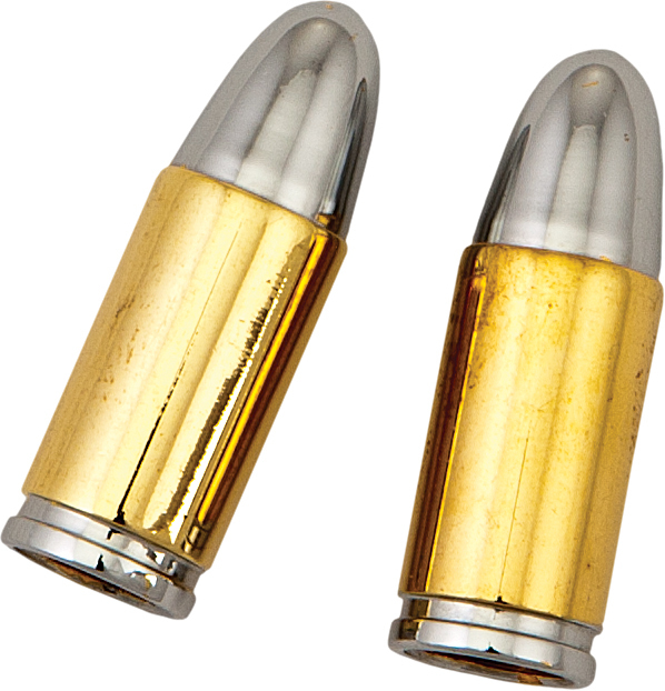 VALVE STEM CAPS GOLD BULLET
