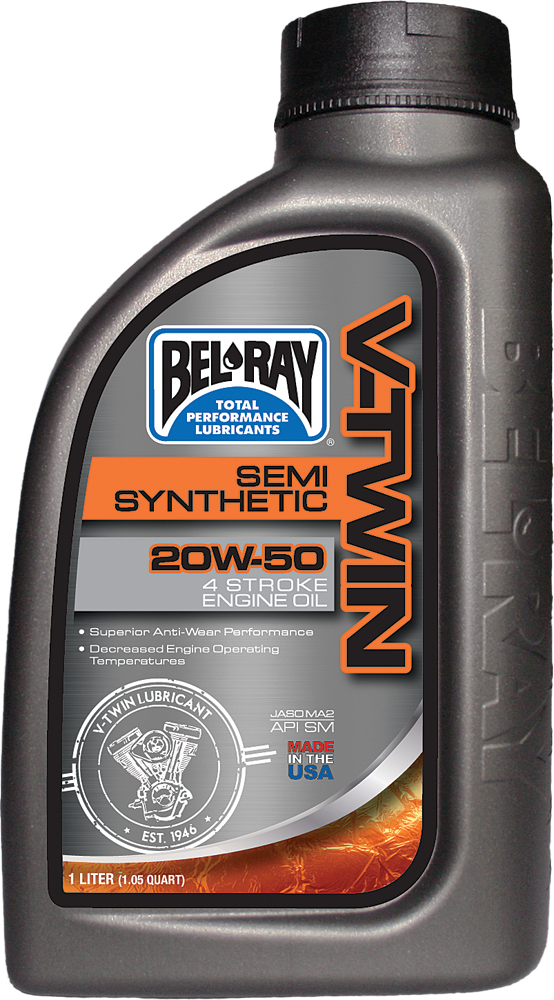 V-TWIN SEMI-SYNTHETIC ENGINE OIL 20W-50 1L