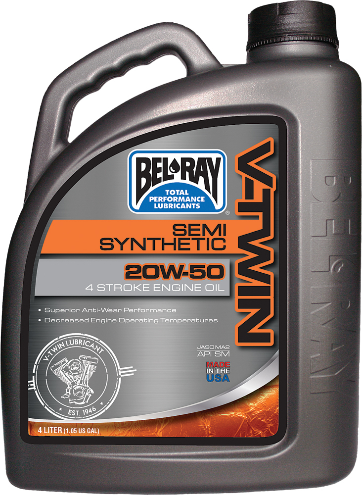 V-TWIN SEMI-SYNTHETIC ENGINE OIL 20W-50 4L