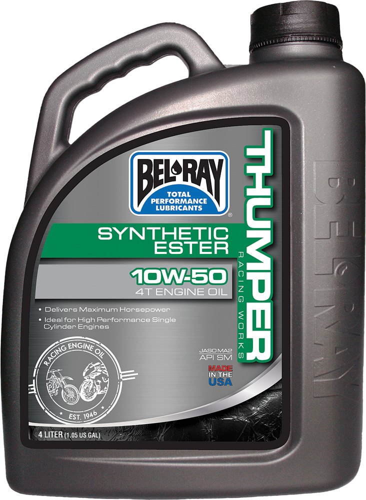 THUMPER SYNTHETIC ESTER 4T ENGINE OIL 10W-50 4L
