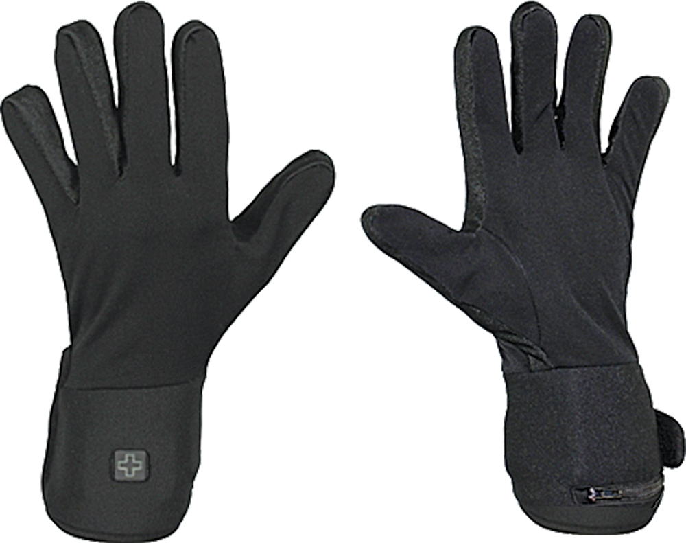 BATTERY POWERED HEATED GLOVE LINERS BLACK XS