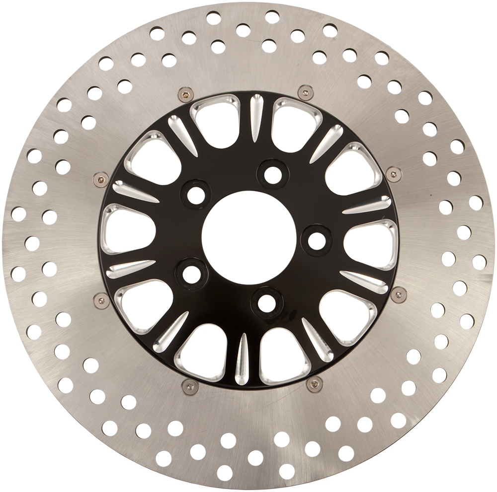 BRAKE ROTOR FRONT LUCK BLACK 11.8  2/PC