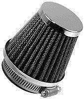 Emgo Clamp-On Air Filter  Universal fit reusable filter with chrome and caps.