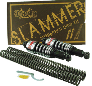 BURLY SLAMMER SUSPENSION DROP KITS FOR SOFTAIL 2000/LATER