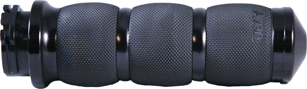 AIR CUSHIONED GRIPS W/CABLE THROTTLE (BLACK)
