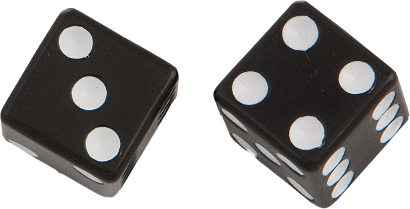 VALVE STEM CAPS BLACK DICE