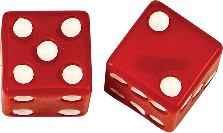 VALVE STEM CAPS RED DICE
