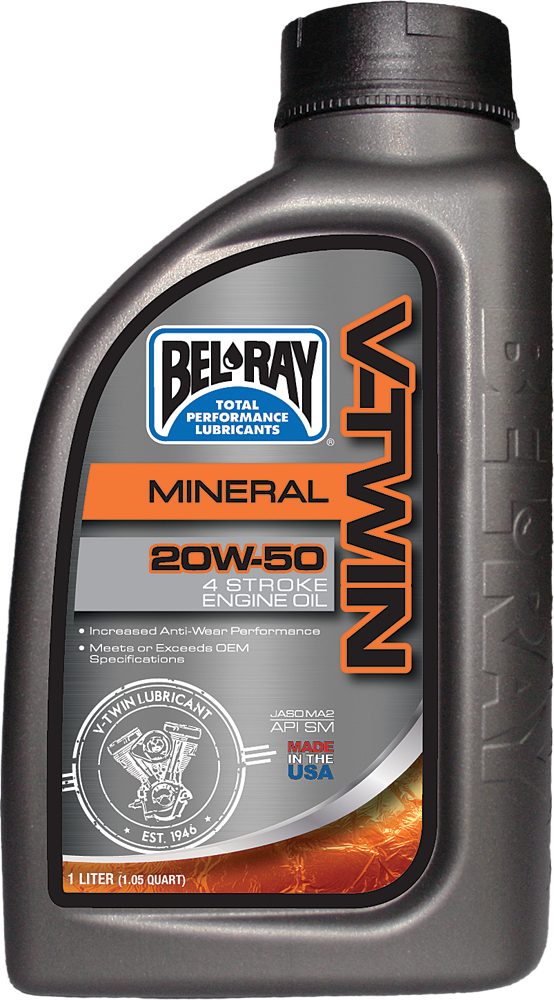 V-TWIN MINERAL ENGINE OIL 20W-50 1L