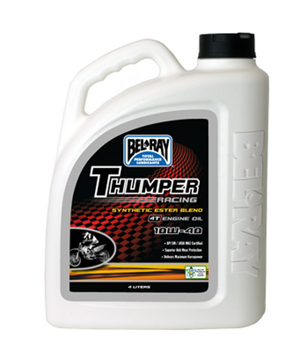 THUMPER SYNTHETIC ESTER BLEND 4T ENGINE OIL 10W-40 4-LITER