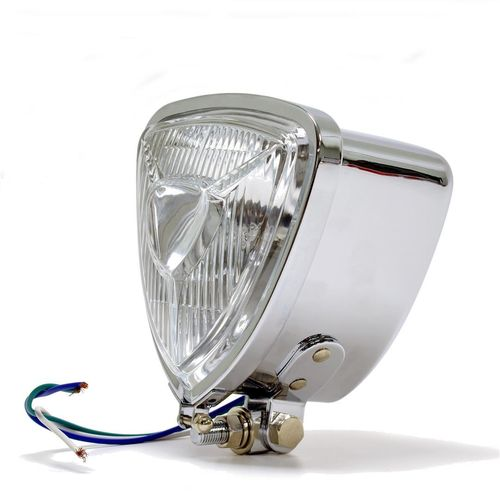 Headlight Aris Style Triangular Chrome