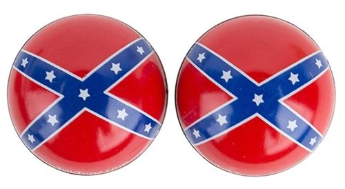 Trik Topz REBEL FLAG CUSTOM VALVE STEM COVER CAPS PAIR